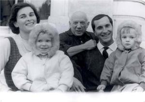 Lucia Bosé, la sua famiglia e Pablo Picasso