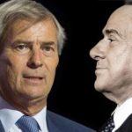 Vincent Bolloré e Silvio Berlusconi