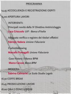 Antiriciclaggio, in un convegno tutto quello che c'è da sapere @ Auditorium Piero Calamandrei, La Scala Studio Legale | Milano | Lombardia | Italia