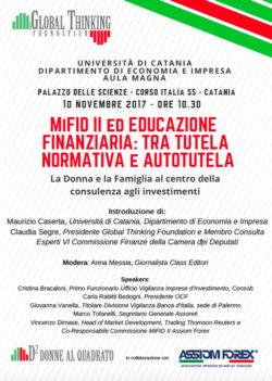 Mifid 2 tra tutela e autotutela: convegno a Catania @ Palazzo delle Scienze | Catania | Sicilia | Italia