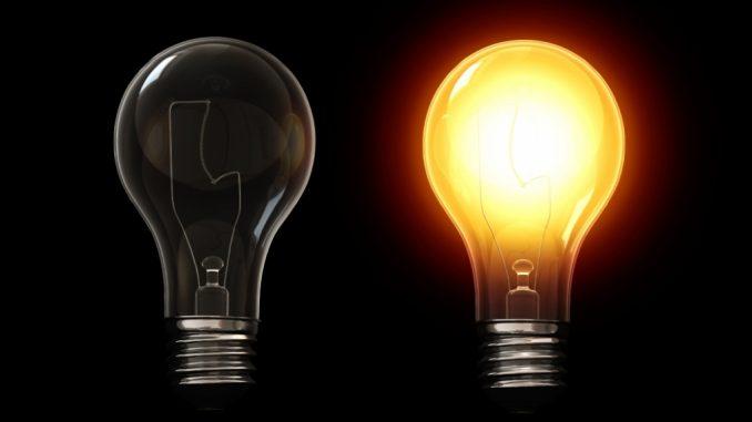 lampadina idea elettricità